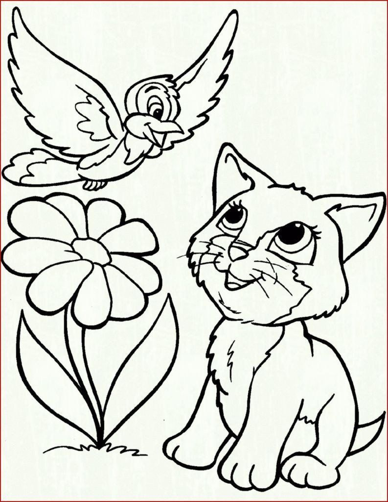 Dog And Cat Coloring Page Youngandtae Com In 2020 Bird Coloring Pages Cat Coloring Page Puppy Coloring Pages