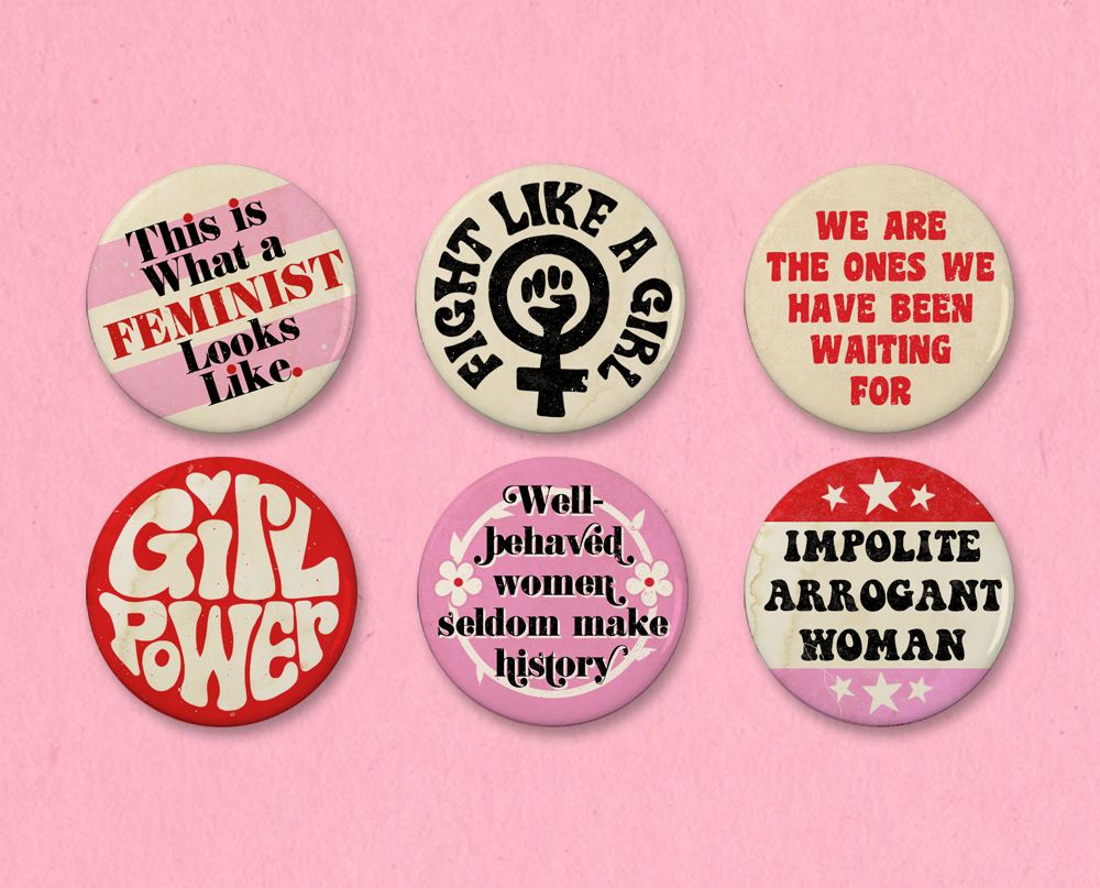 """Anti-Racist Badges 1/"""" Buttons Pins Set Lot x 9-25mm racism political left wing"""