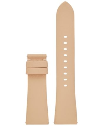732c468d4b4d Michael Kors Access Women s Bradshaw Vachetta Leather Smart Watch Strap  MKT9018 - Brown