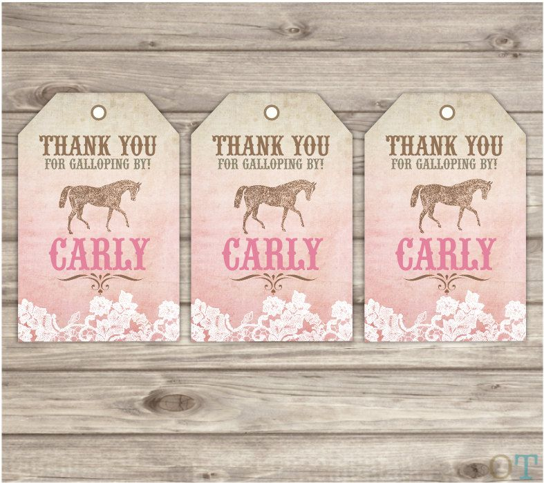 Rustic lace horse thank you tags printable gift tags shabby chic rustic lace horse thank you tags printable gift tags shabby chic country cowgirl theme party girl negle Choice Image