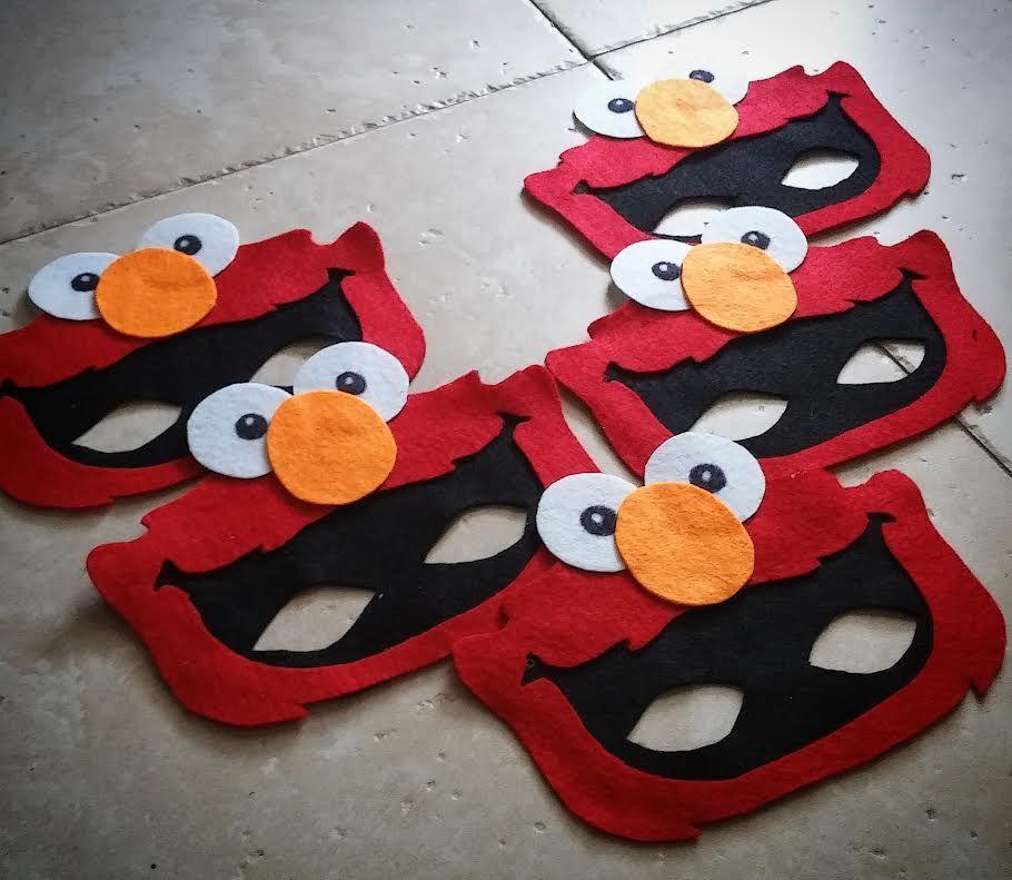 Halloween Costume Birthday Party Favor Grover Felt Mask