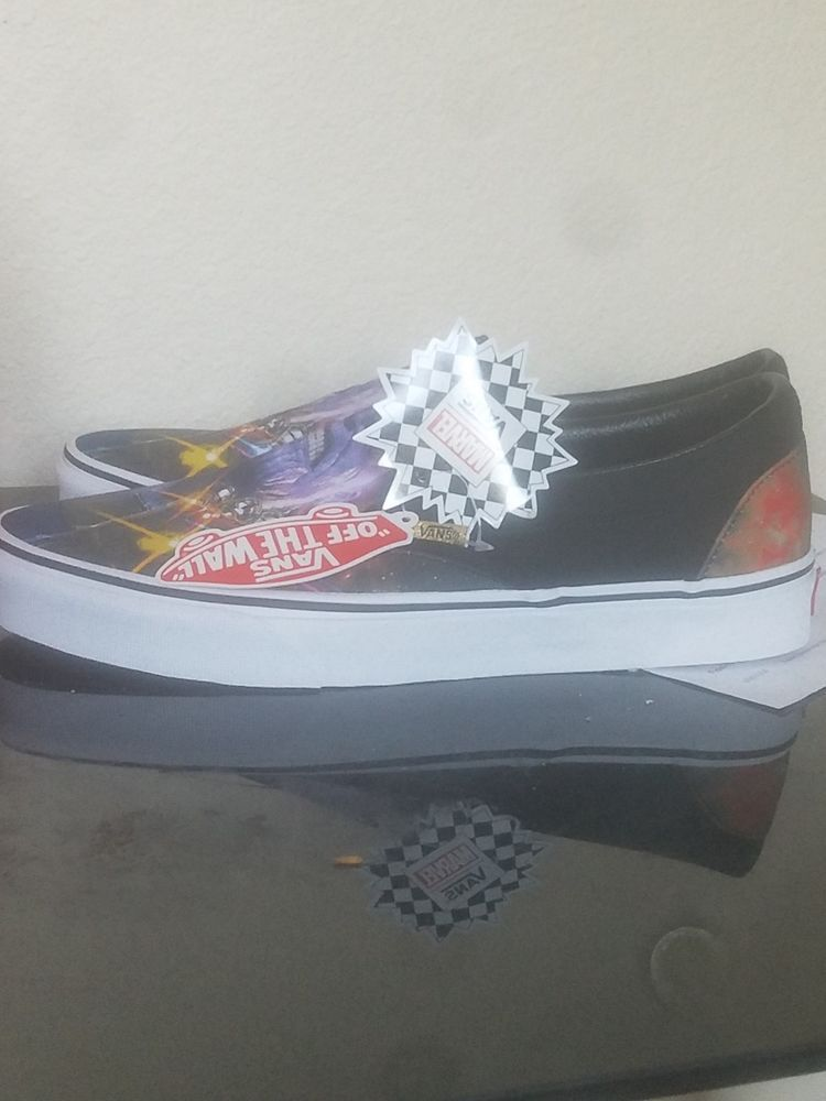 New Vans Slip On Marvel Avengers Thanos Skate Shoe Infinity Gauntlet Fashion Clothing Shoes Accessories Mensshoes Athleticshoes Ebay Link