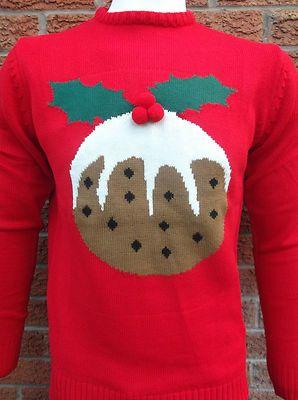 Retro Christmas pudding jumper | eBay UK  | eBay.co.uk