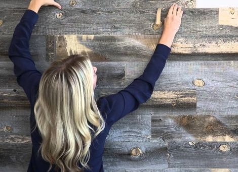 Stikwood Has Peel And Stick Panels That Use Real Reclaimed