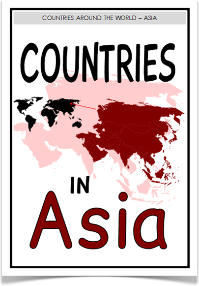 Countries In Asia Treetop Displays With A Title Poster Here Is - All country name and capital