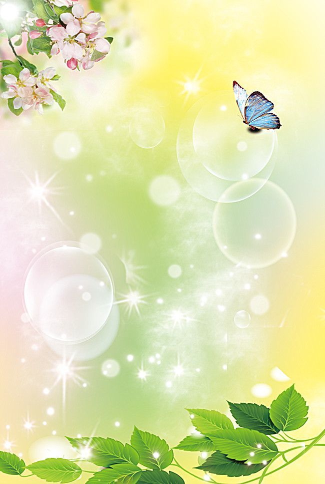 Fresh Green Natural Floral Background Butterfly Poster Floral Background Flower Background Wallpaper Abstract Wallpaper Backgrounds