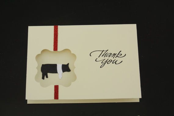 Show Pig Thank You Cards 4 Pack Etsy Thank You Cards Your Cards Cards
