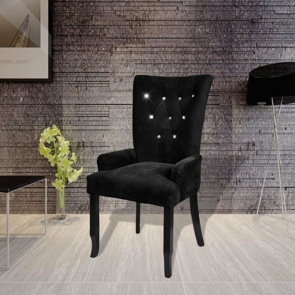 Best Black Velvet Accent Chair Luxury High Back Tufted Fabric 400 x 300