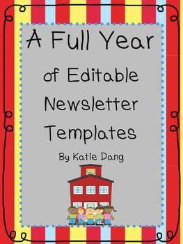 editable newsletter template free