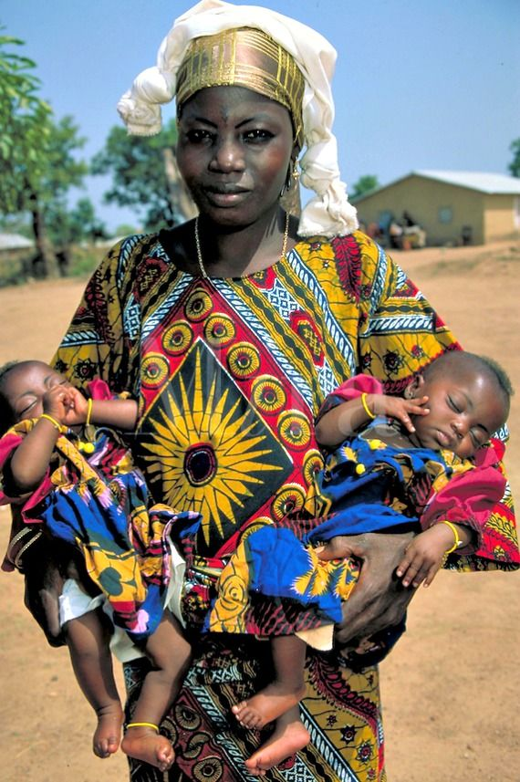 African mom and babies