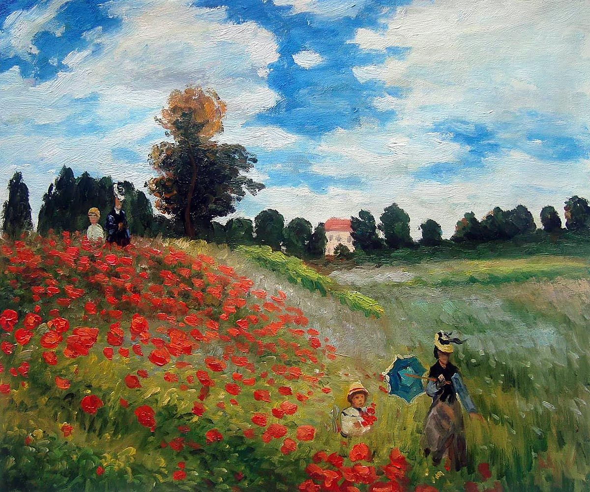 Poppy Field In Argenteuil Claude Monet At Overstockart Com In 2021 Monet Art Claude Monet Art Poppy Art