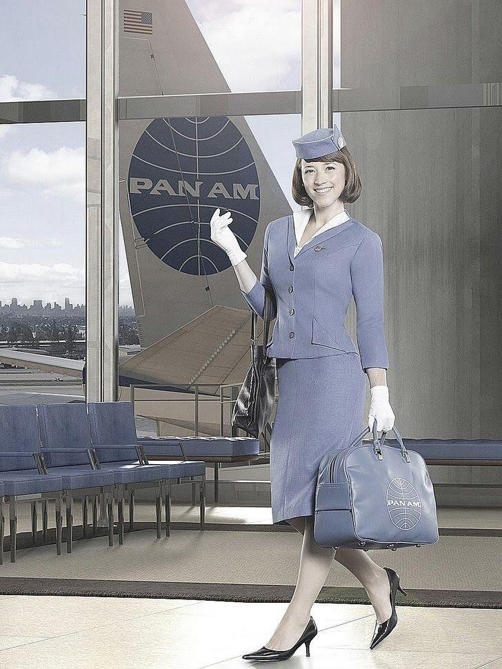 Pan Am USA Tv show outfits, Air hostess uniform, Pan am