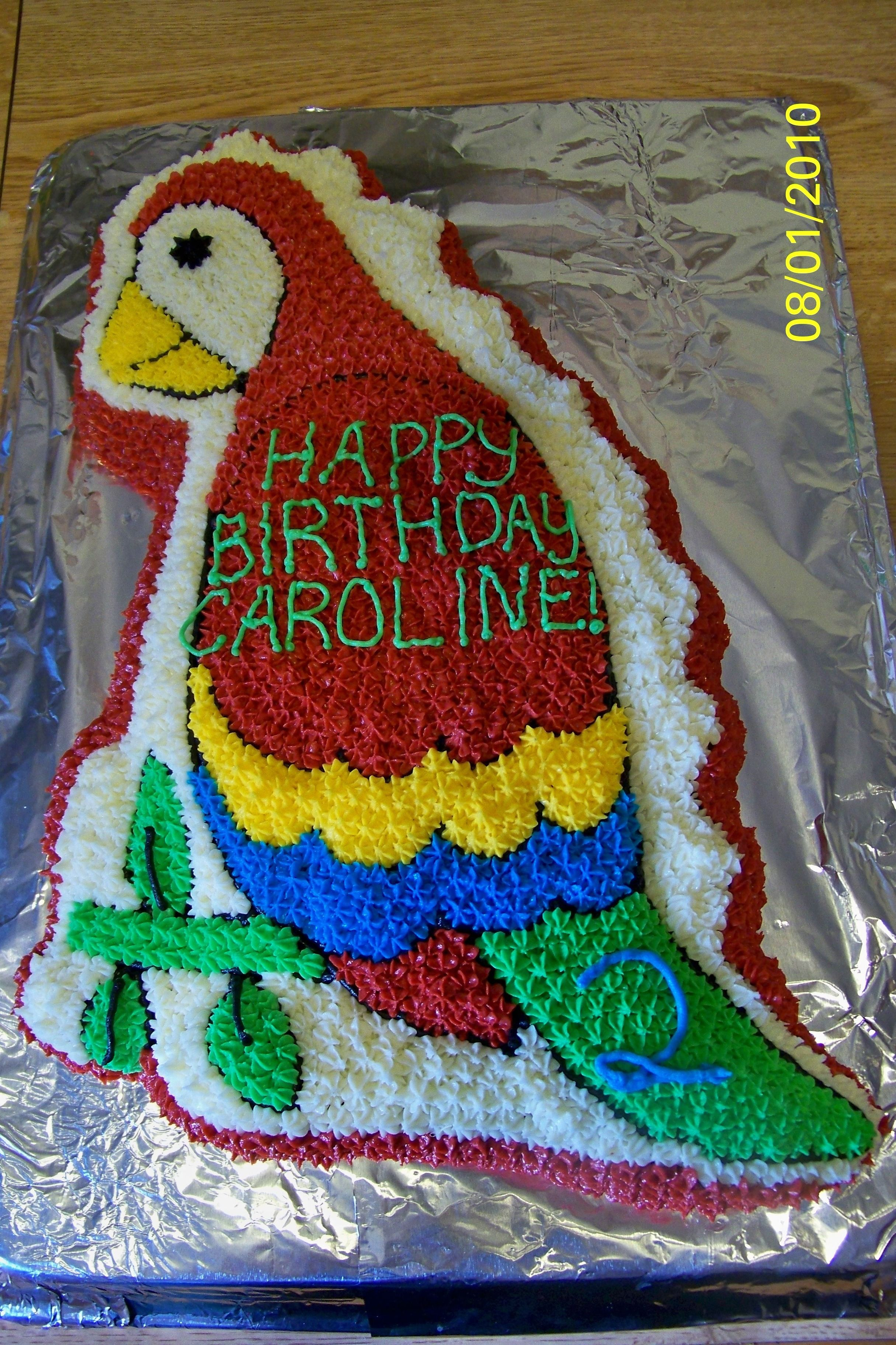 Astonishing Parrot Cake Dinosaur Cake Pan What A Cool Way Too Use The Personalised Birthday Cards Cominlily Jamesorg