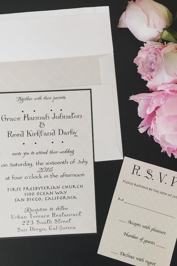 Fanciful Fonts Wedding Invitation Fanciful Fonts Wedding