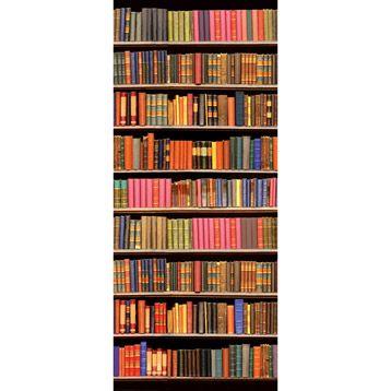 Poster De Porte Library 92x202 Cm Porte Scorrevoli Nel