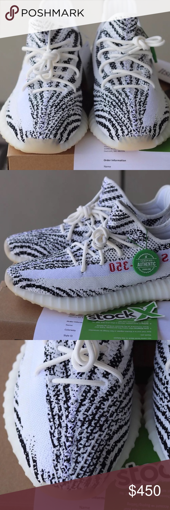 e9c0bfc21 Adidas Yeezy Boost 350 V2 Zebra 100% Authentic 🔺 We are a very negotiable  service