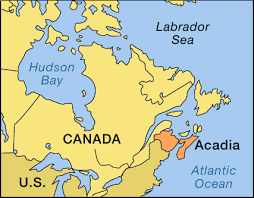 Image result for map of acadia 1755   Huronia and New France