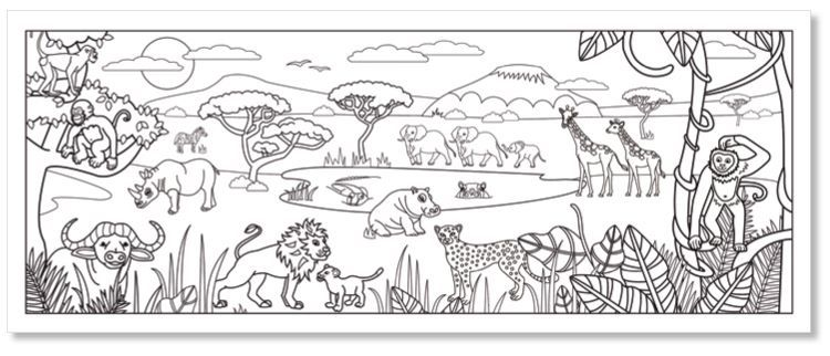 Coloriage Animaux Savane Africaine