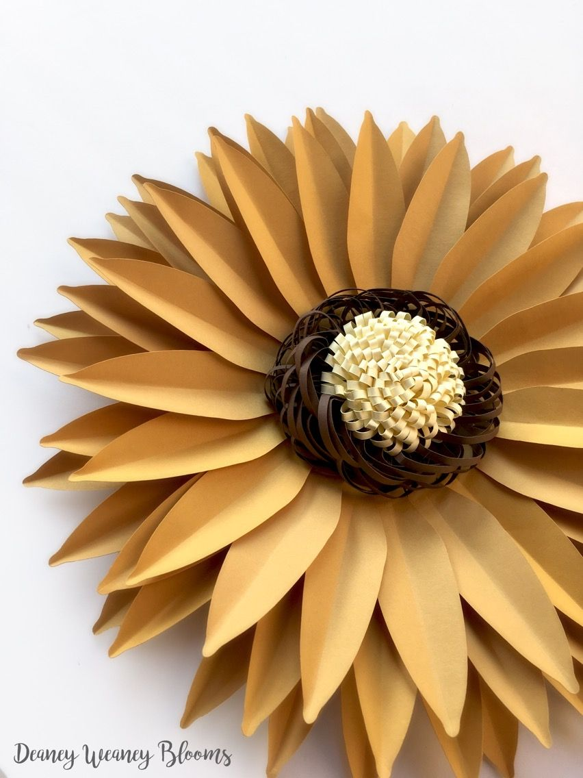 Diy Paper Sunflower Svg And Pdf Digital 13 Inches Large Backdrop
