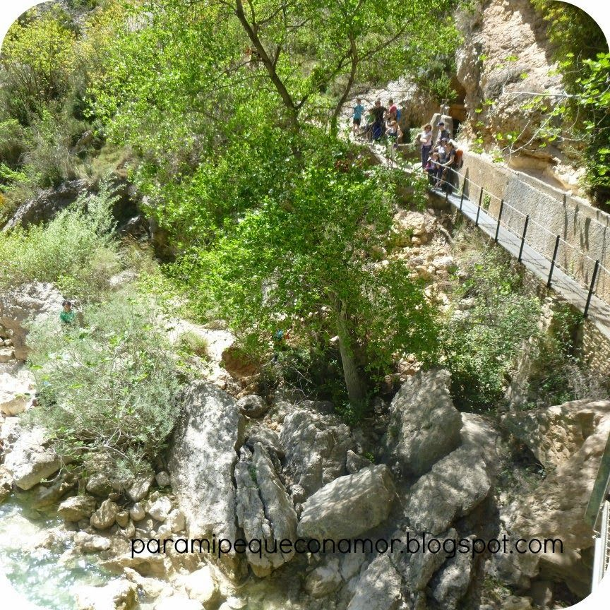 Para mi peque con amor: Excursión con niños: Las pasarelas del Vero en Alquézar (Huesca)