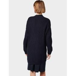 Photo of Tom Tailor Damen Strickjacke mit Zopfmuster, blau, unifarben, Gr.L Tom TailorTom Tailor