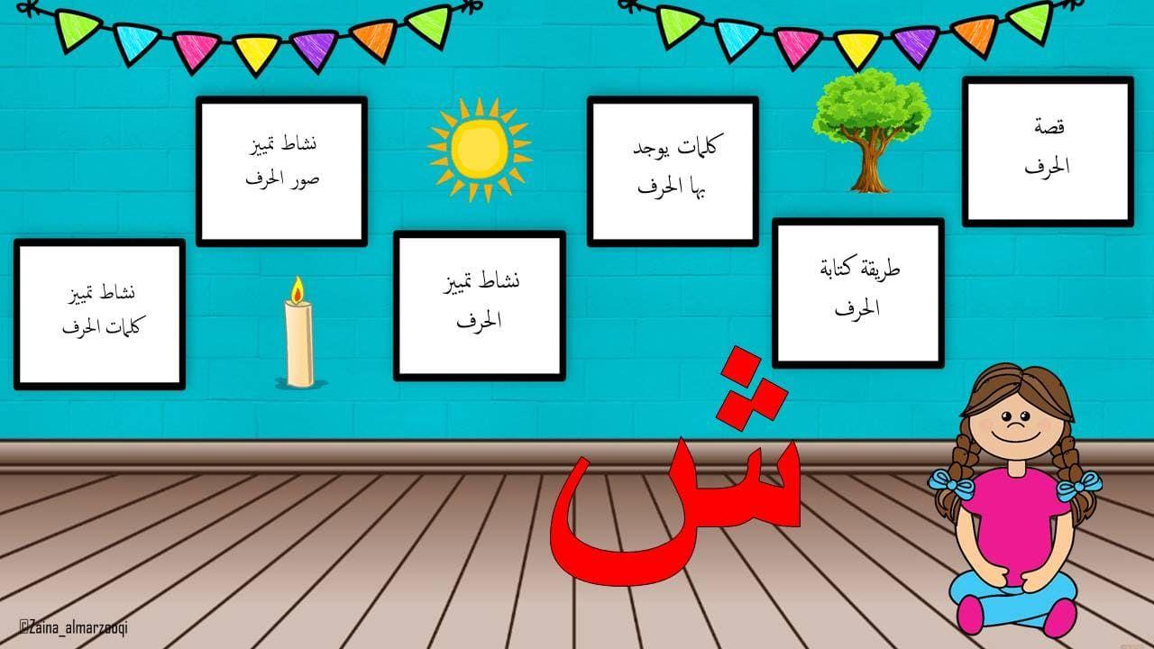 بوربوينت حرف الشين لتعليم الاطفال الروضة بطريقة مميزة Education Poster Education Poster