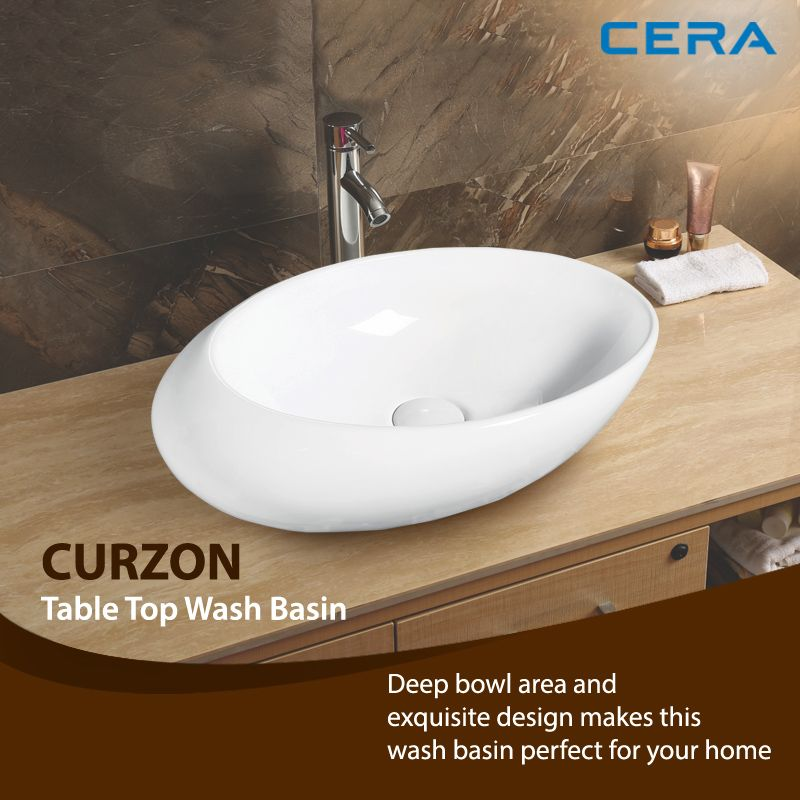 Curzon From Cera Is A Uniquely Designed Table Top Wash Basin