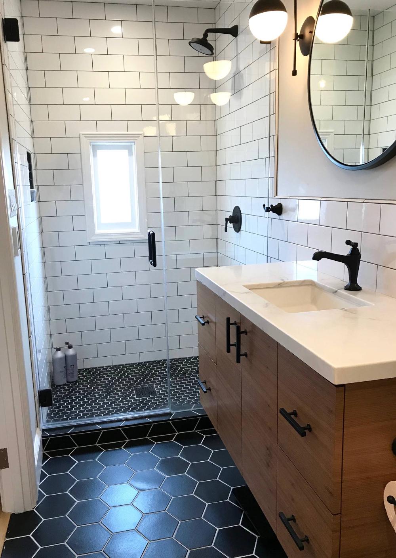 Bernal Heights Gates Bathrooms Midcentury Bathroom San