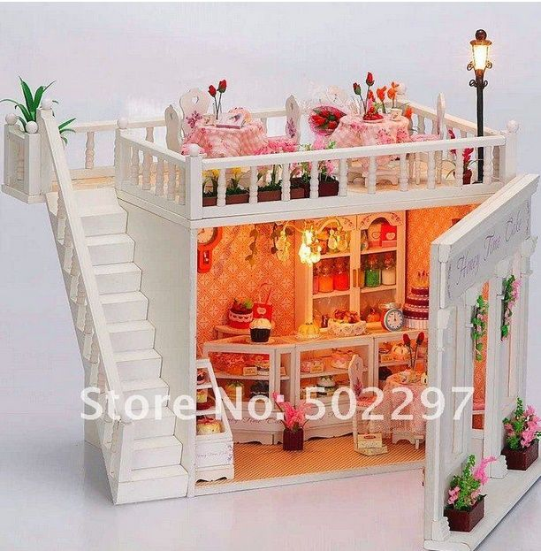 To have a little bakery for the dolls to work in is a really fun idea. http://www.squidoo.com/wooden-dollhouse