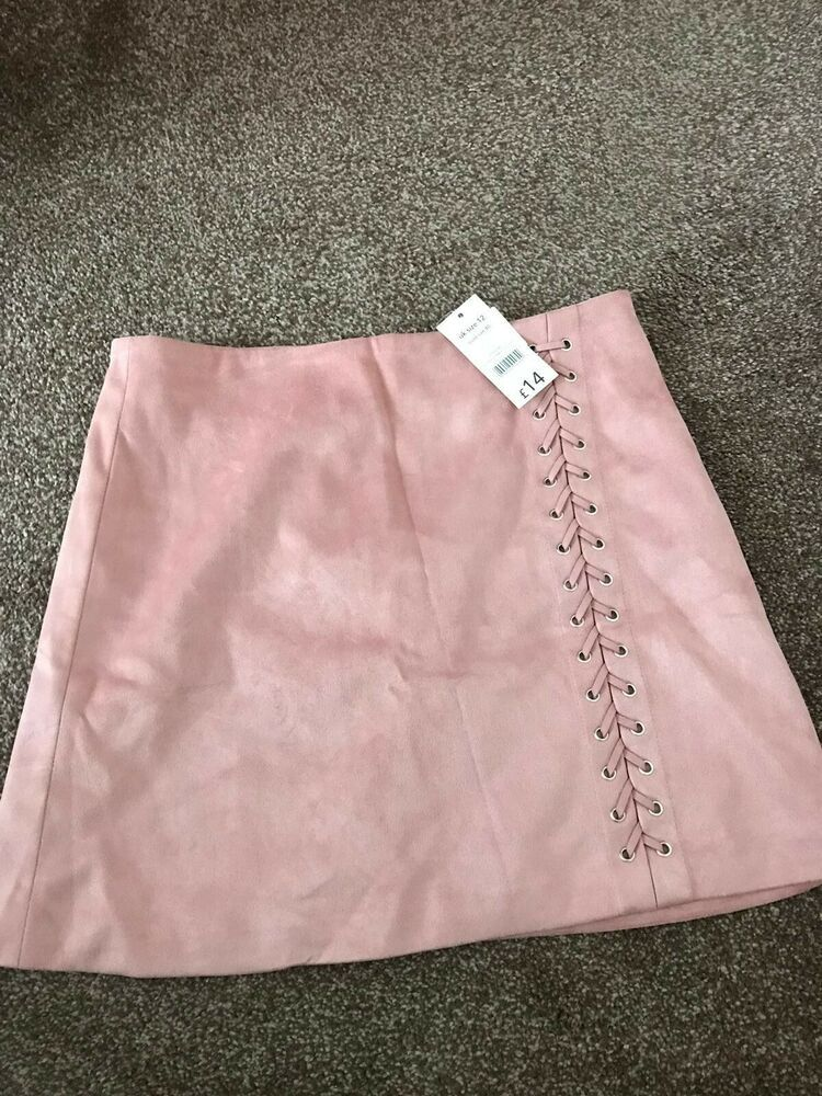Clothing, Shoes & Accessories Pink Stitch Skirt Size 12