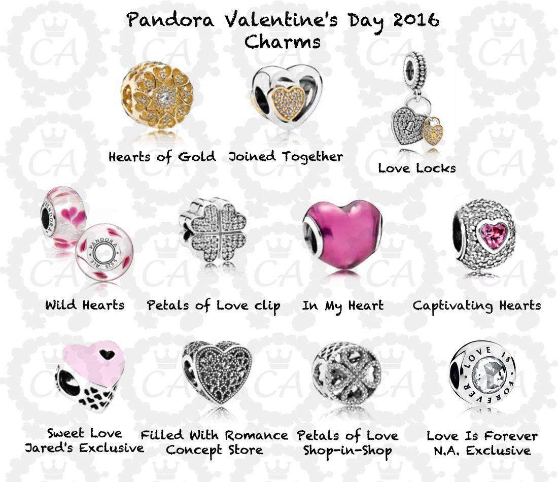00f0dd5e9 pandora-valentine's-day-2016-charms | Pandora Jewelry | Pandora ...