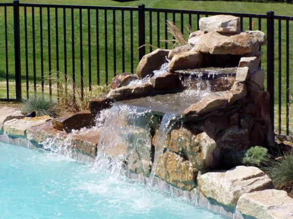 Simple Waterfall For Pool Custom Water Feature Pool Fountain