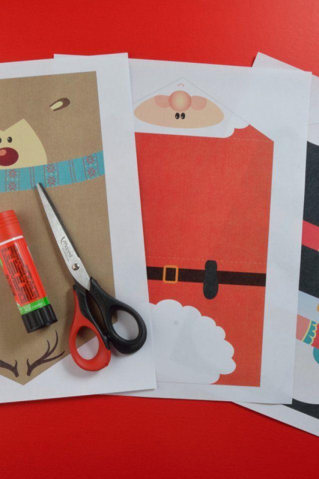cómo hacer tarjetas navideñas para imprimir chocolates pinterest