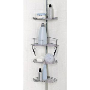 Zenith Twist Tight Shower Caddy, Chrome Corner shower