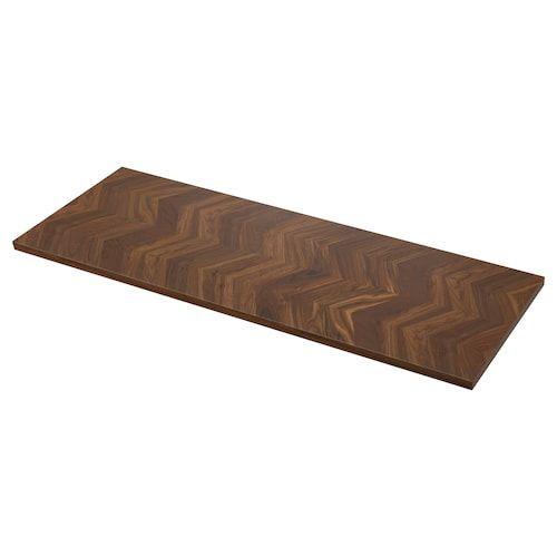 Ekbacken Countertop Dark Gray Marble Effect Laminate Marble Effect Laminate 98x1 1 8 In 2020 Walnut Veneer Countertops Wood Countertops