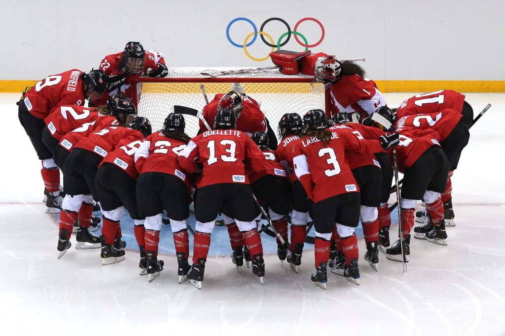 Team Canada. Women's Hockey. Proud Canadian. 1st. Gold