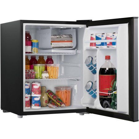 Cubic Foot Stainless Look Compact Dorm Refrigerator Dimensions: X X Cubic  Foot Capacity Freezer Compartment Energy Efficient Part 35