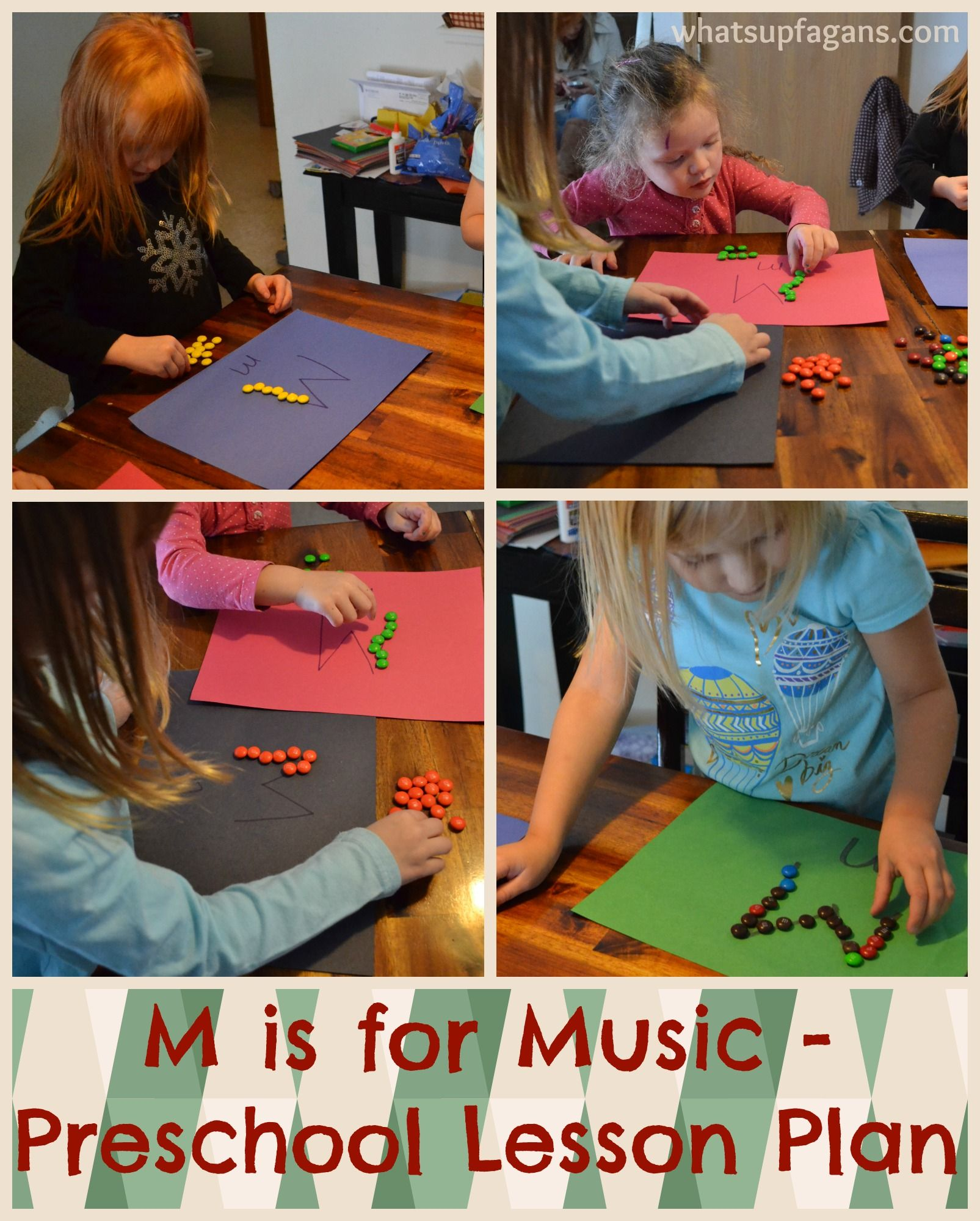 Letter M Activities For Preschool M Is For Music Lesson