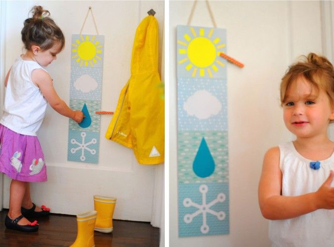 Diy toddler weather station familyfun test drive n hen for Garderobe zaun kinder