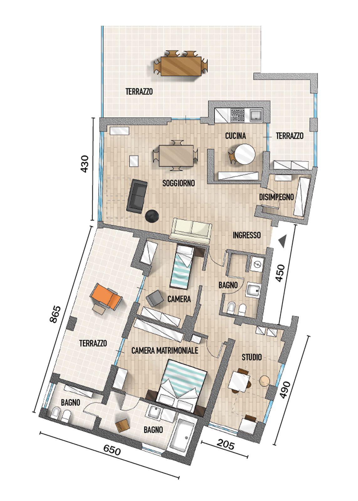90 mq ambienti moltiplicati nell attico con vista mare for Cose di casa progetti