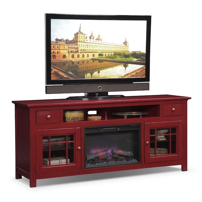 "Entertainment Furniture Merrick 74"" Fireplace TV Stand with"