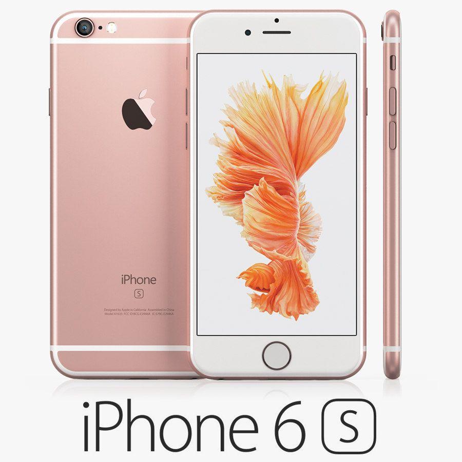 3d model iphone 6s rose gold 3d model iphone 6s rose