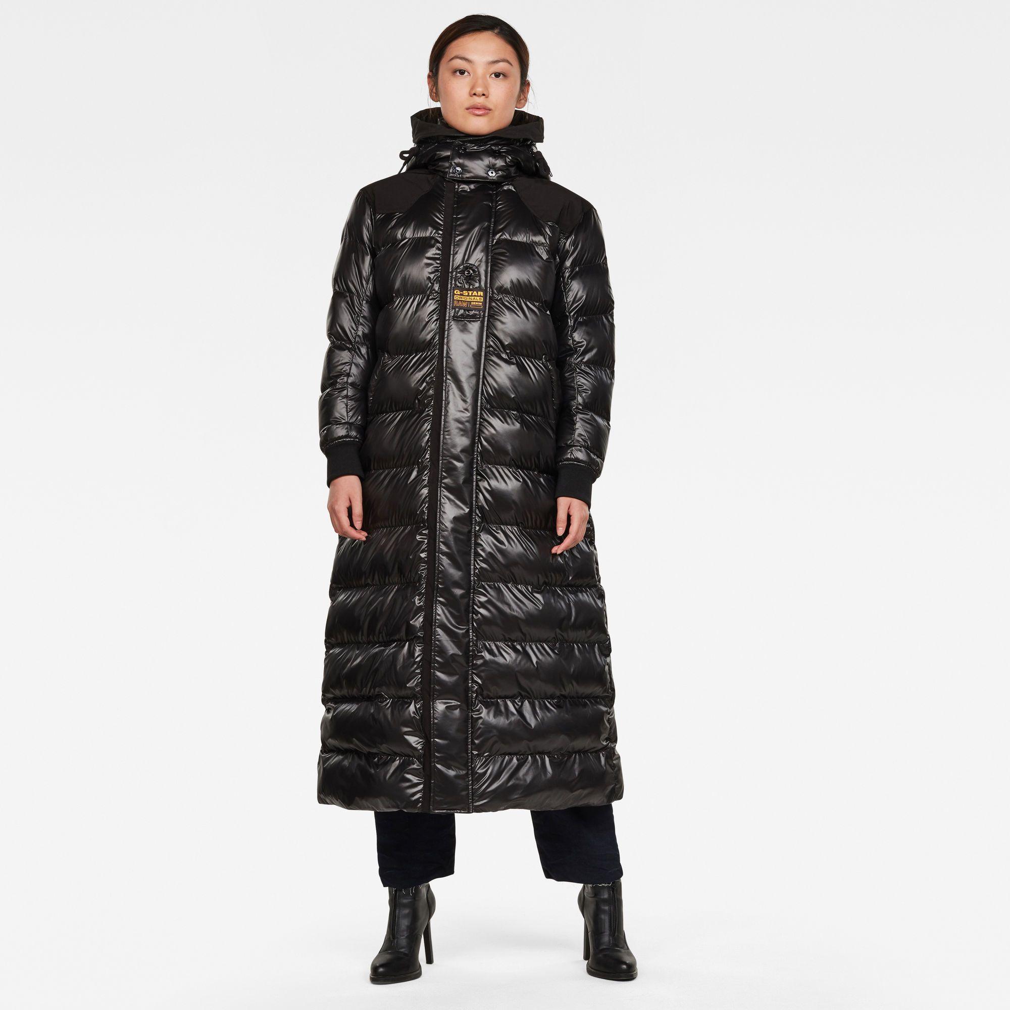 Gevoerd Puffer Jack Met Capuchon Dark Black G Star Raw Puffer Jacket Women Jackets For Women Long Puffer Jacket [ 2000 x 2000 Pixel ]