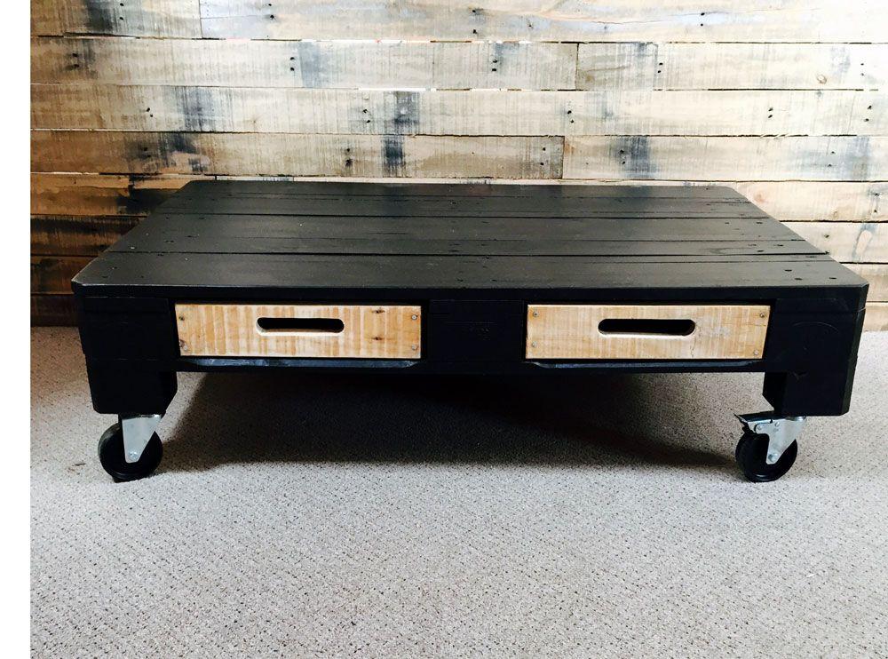 Black Modern Pallet Coffee Table Industrialdesignnz Coffee Table Painted Coffee Tables Small Coffee Table