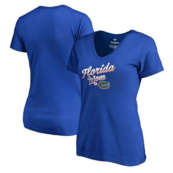 Florida Gators Fanatics Branded Women's Team Mom V-Neck T-Shirt - Royal - $19.99