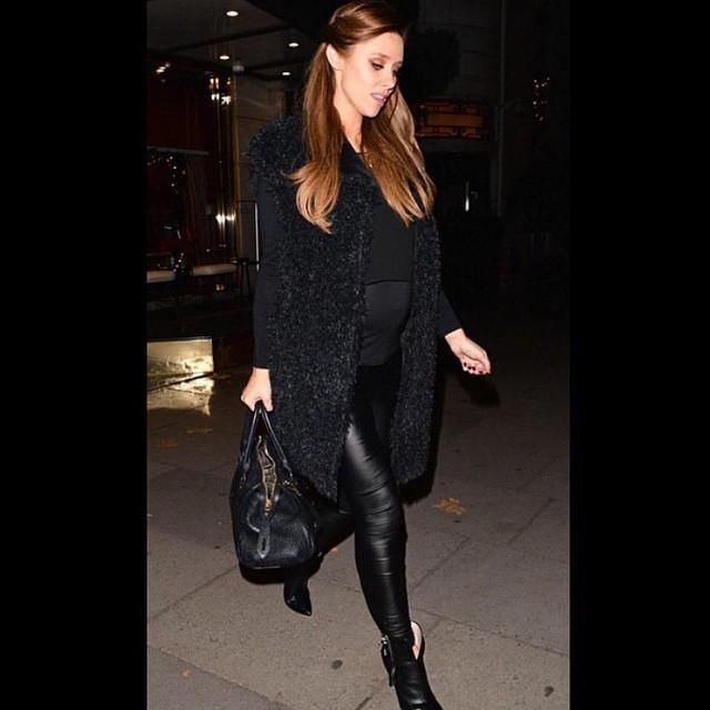 dd8fe7cd34eef Faux Leather Maternity Leggings | Seraphine | Worn by Una Foden - The  Saturdays | Glamorous maternity clothes | Pregnant celebrities