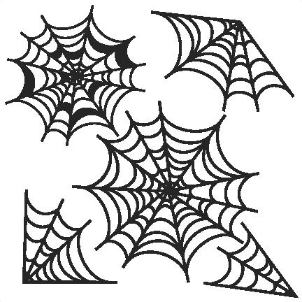 Spider web cute. Spiderweb svg scrapbook cut