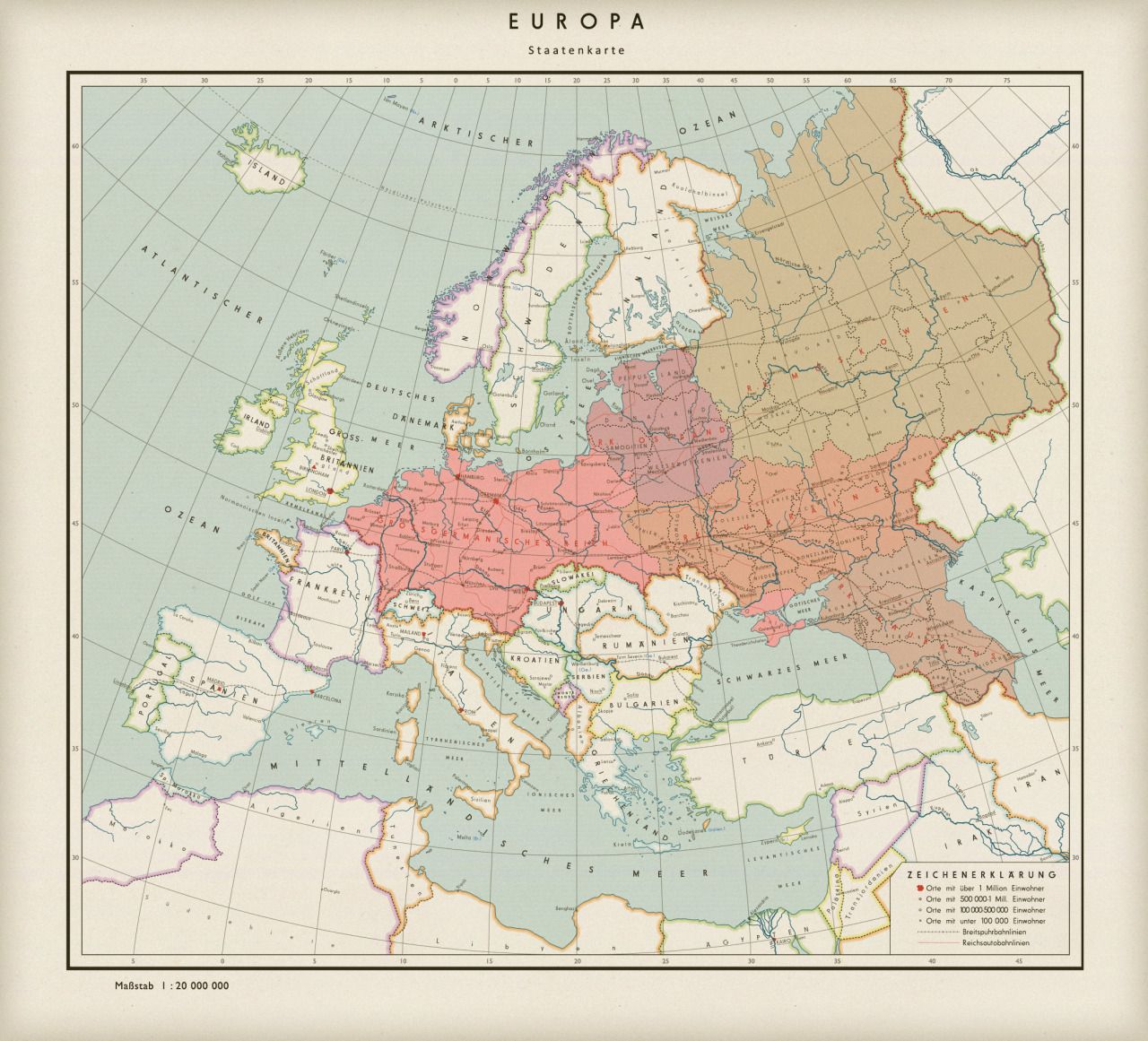 Map Of Germany Post Ww2.If Germany Won A Fictional Map Of A German Dominated Post Ww2