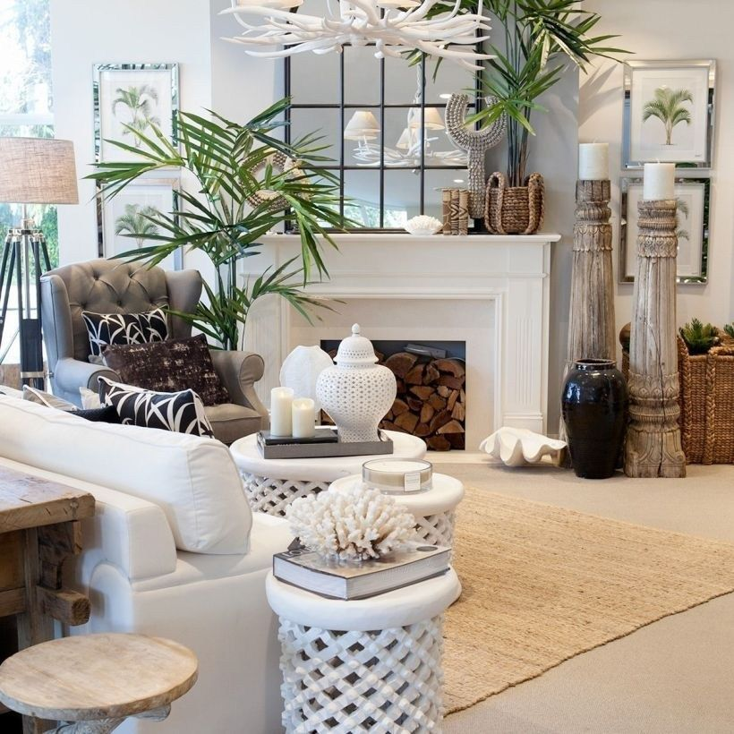 Pin By Petra Howie On Tropical Style Coastal Decorating Living Room Tropical Interior Living Room Decor
