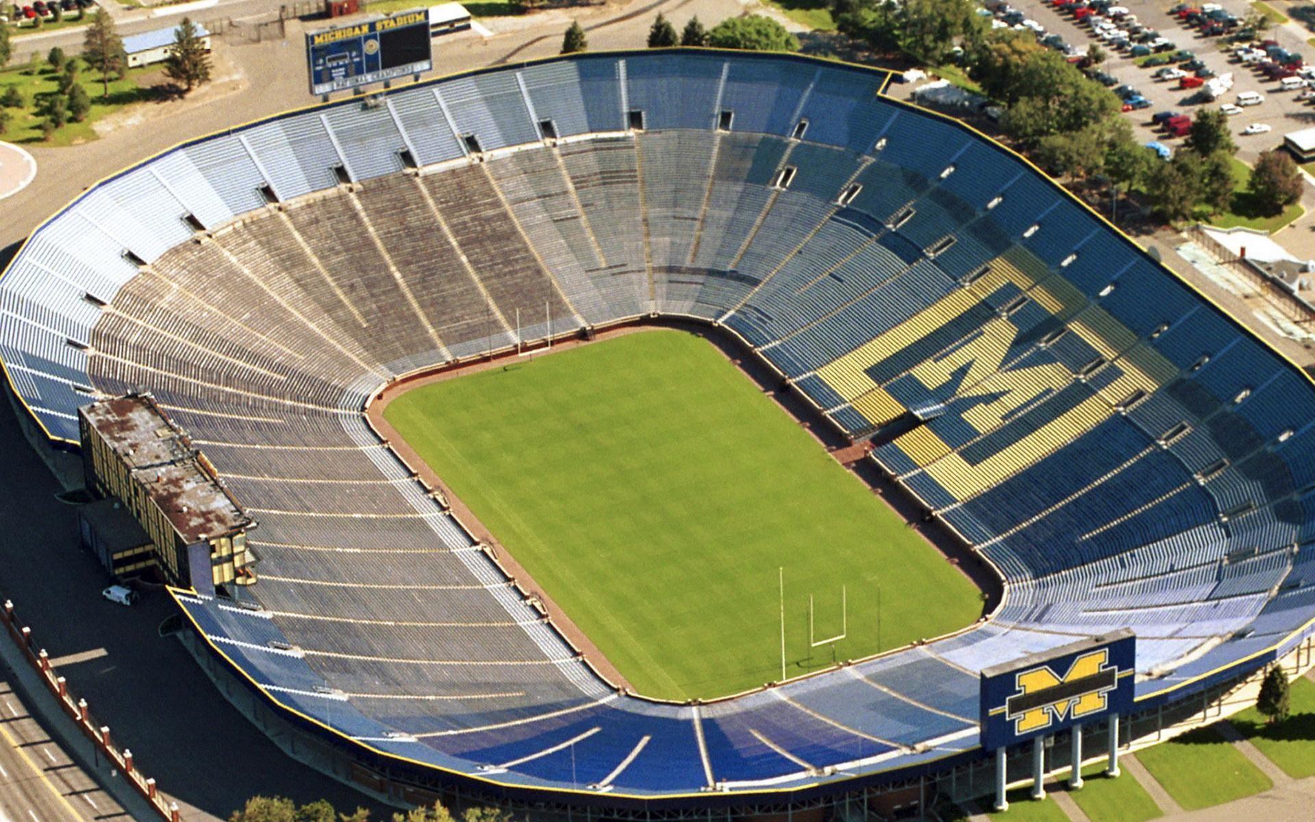Michigan Wolverines Stadium Football Stadiums Michigan Wolverines Michigan Wolverines Football